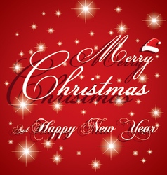 Merry Christmas and Happy New Year Card on white vector image