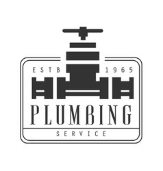 plumbing repair and renovation service black and vector image vector image