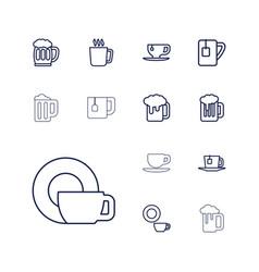 13 mug icons vector