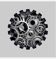 3d cog and gears wheel concept background vector