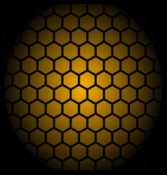 abstract honey comb pattern design vector image
