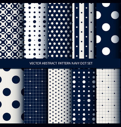 abstract pattern navy dot set vector image