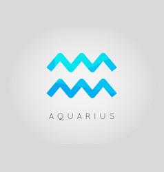 Aquarius constellation detailed stylish zodiac vector