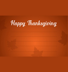 Background thanksgiving day greeting card vector