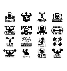 badges sport fitness athletic gym logotypes vector image
