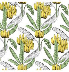 banana custom jungle fabric seamless pattern vector image