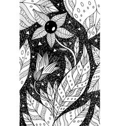belladonna - flower black and white vector image