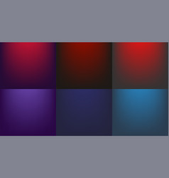 blue and red background gradient set blue and red vector image