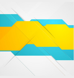 Blue and yellow abstract tech background vector
