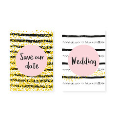 Bridal shower card with dots and sequins wedding vector