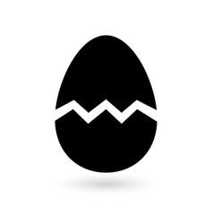Broken egg icon vector