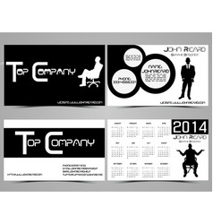 Business card abstract creative set 5 vector