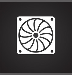 car cooler fan on black background for graphic and vector image