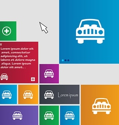 Car Icon sign buttons Modern interface website vector image