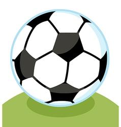 Cartoon soccer ball vector image