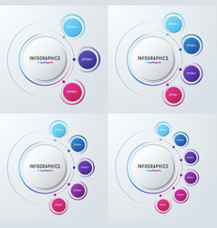 Circle chart infographic templates for vector