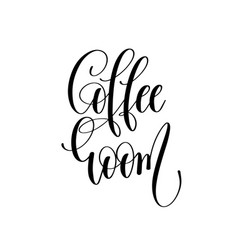 Coffee room - black and white hand lettering vector