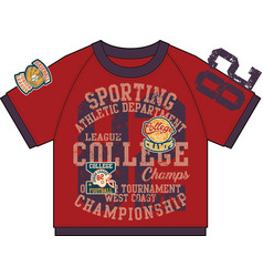 college athletic department sporting t shirt vector image