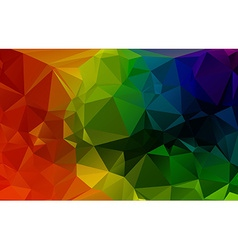 Colorful 3D Geometric Abstract Polygonal Triangle vector image