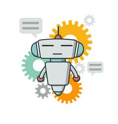 Cute outline robot vector