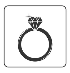 Diamond engagement ring icon 2 vector