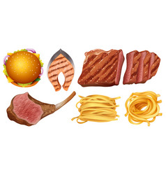 different types of food vector image