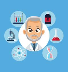 Doctor medical equipment laboratory vector