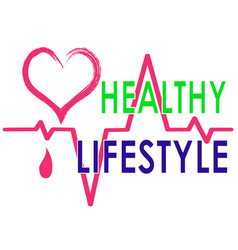 Drawing that promote a healthy lifestyle vector