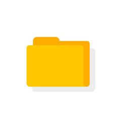 folder icon flat cartoon directory symbol vector image