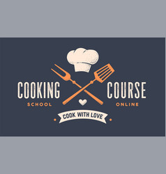 Food logo logo for cooking school class vector