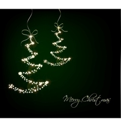 Funny Sparkler Trees vector image