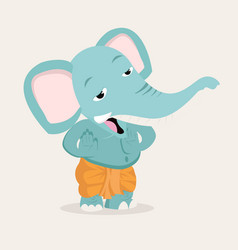 ganesha elephant cartoon design vector image