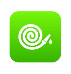 Garden hose icon digital green vector