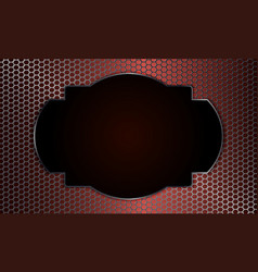 Geometric background with metal grille and oval vector