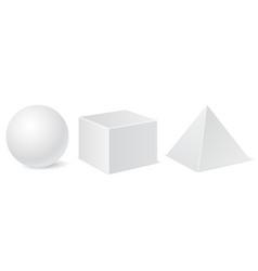 Geometric shapes white mockups vector