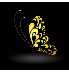 Gold butterfly vector