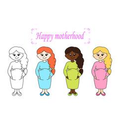 Happy motherhood vector