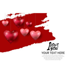 I love you concept design with hanging heart vector