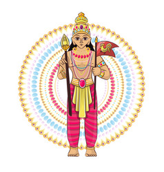 indian god hinduism godhead goddess and vector image