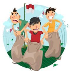 indonesia independence day games celebration - sla vector image