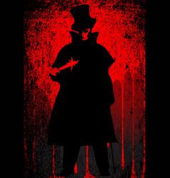 Jack ripper blood background vector