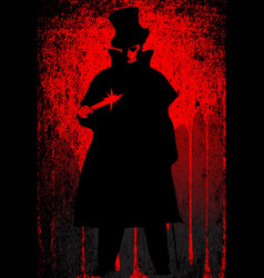 jack the ripper blood background vector image