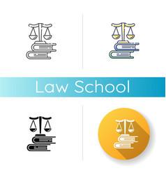 law school icon vector image