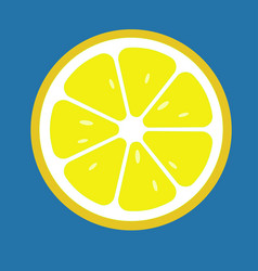 Lemon slices icon flat food vector