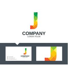 letter j - logo design vector image