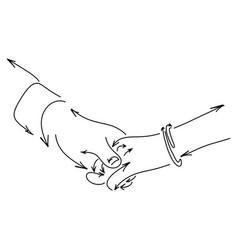 lover holding hand made from arrow vector image