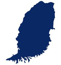 map grenada in blue colour vector image