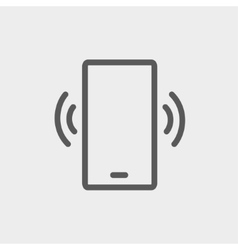 Mobile phone vibrating thin line icon vector