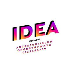 Modern font design vector