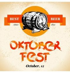 Oktoberfest vintage background Typographic poster vector image